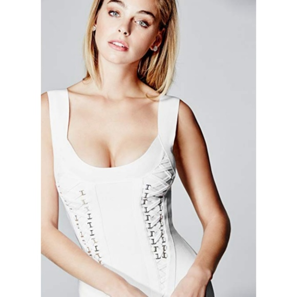 Marciano Dresses & Skirts - MARCIANO Janethe SEXY Bandage White Dress - Small